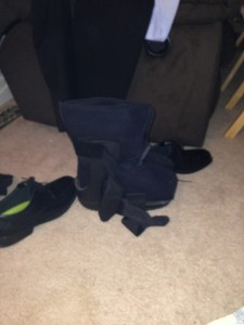 Boot? Until I get my brace this will have to do....