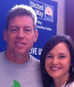 Amber and Troy Aikman