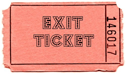 Image result for exit ticket