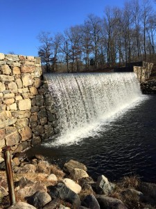 The waterfall at Ringwood State Park